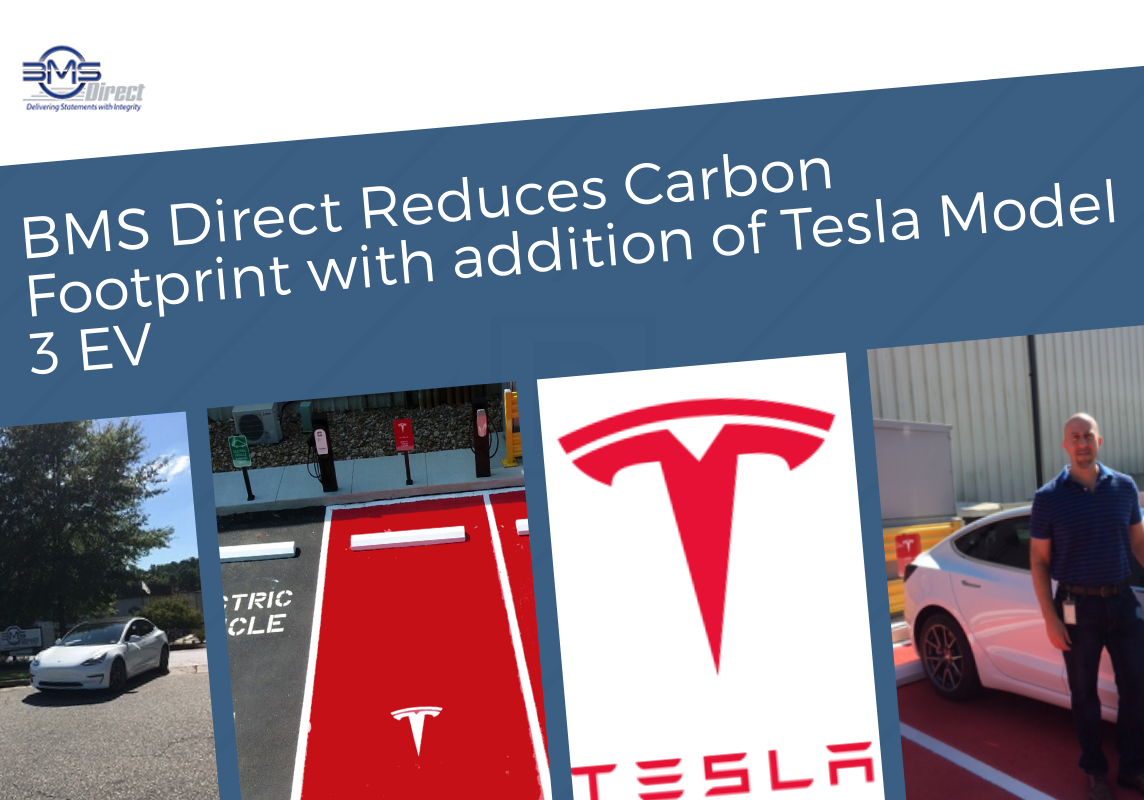 BMS Direct Reduces Carbon Footprint with addition of Tesla Model 3 EV